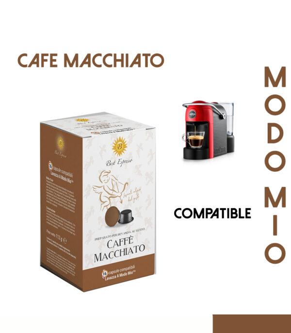 48 CAPSULES DE CAFÉ MACCHIATO COMPATIBLES LAVAZZA MODO MIO