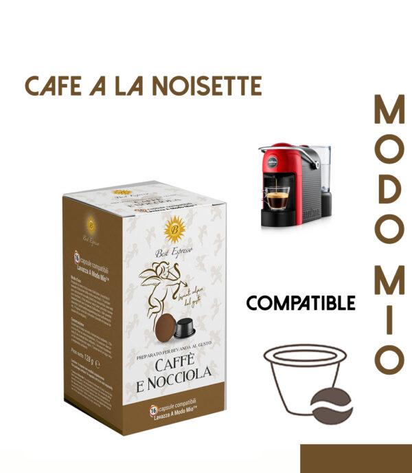 48 CAPSULES DE CAFÉ A LA NOISETTE COMPATIBLES LAVAZZA MODO MIO