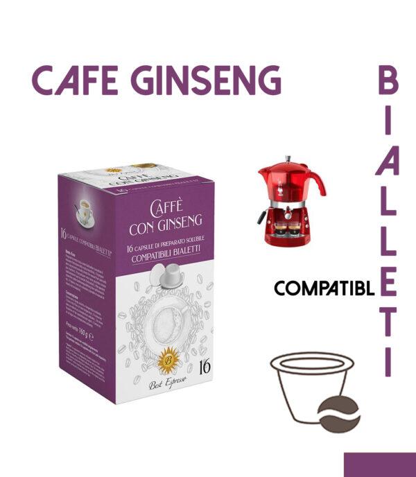 48 CAPSULES DE CAFÉ GINSENG COMPATIBLES BIALETTI